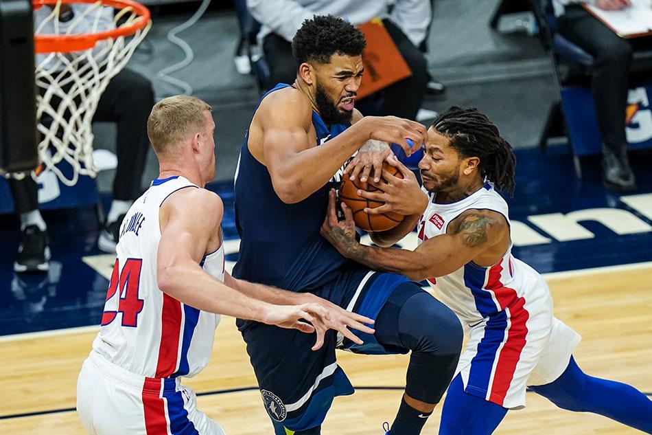 NBA: Huge fourth quarter lifts Timberwolves past Pistons 1