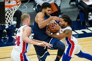 NBA: Huge fourth quarter lifts Timberwolves past Pistons