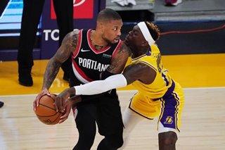 NBA: Lillard pours in 31 as Blazers beat Lakers