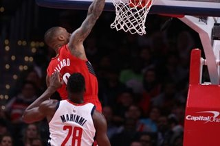 NBA: Blazers throttle depleted Wizards to end skid