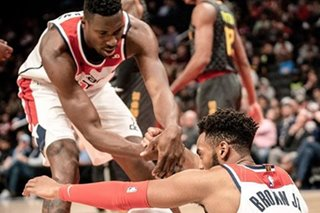 NBA: Short-handed Wizards clip Hawks late