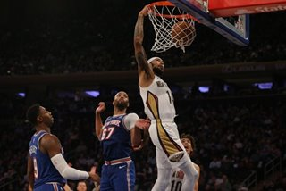 NBA: Ingram, Pelicans stroll past Knicks
