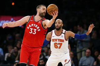 NBA: Raptors hold off Knicks to earn 6th straight win
