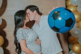It's a boy for Phil Younghusband, Margaret Hall