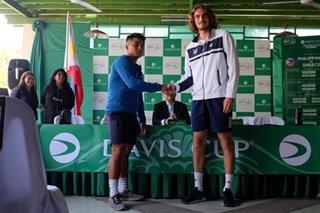 Pinoy AJ Lim vs Greek Stefano Tsitsipas in Davis Cup