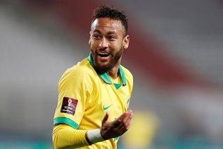 Football: Neymar hat-trick fires Brazil past Peru, Argentina labor