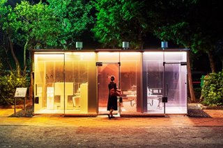 I can see loo: Tokyo park gets transparent toilets
