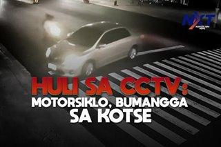 Huli sa CCTV: Motorsiklo, bumangga sa kotse