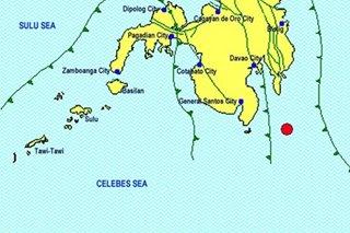 Magnitude 4.1 quake strikes off southern Mindanao