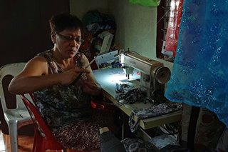 Batangas seamstress sews face masks for Taal Volcano evacuees