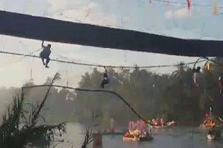 8 nahulog sa hanging bridge habang nanonood ng fluvial parade