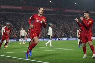 Football: Liverpool go 16 points clear with 2-0 win over Man United