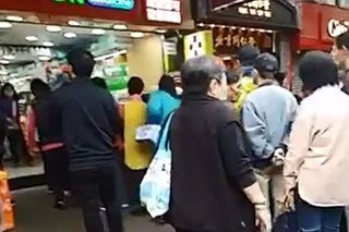 'Lining up for tissue paper': Video captures panic buying in Hong Kong