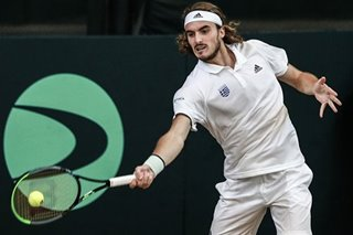 Tennis: Greece's Stefanos Tsitsipas dazzles Pinoy fans in Day 1 of Davis Cup