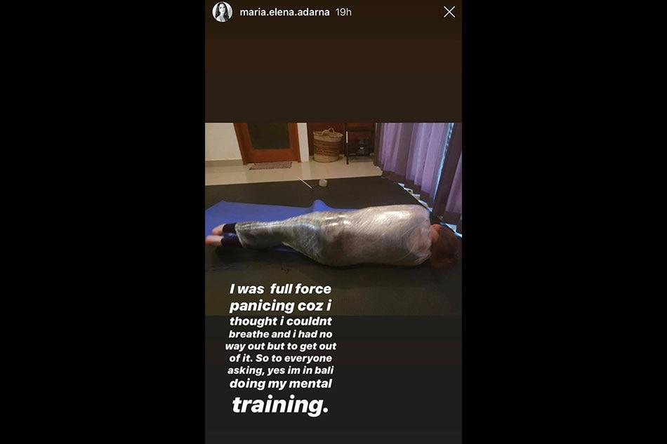 'Stuck in black hole': Ellen Adarna goes through mental training in Bali 2