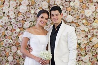 Sarah Lahbati's civil wedding dress only took a day to make