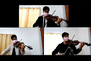 WATCH: Musician tries to lift Pinoy spirits with violin performance