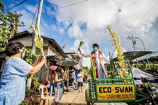Borongan residents celebrate Palm Sunday amidst COVID-19 epidemic