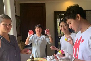 LOOK: Matteo, Sarah spend Easter with family