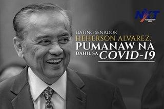 Dating Senador Heherson Alvarez, pumanaw na dahil sa COVID-19