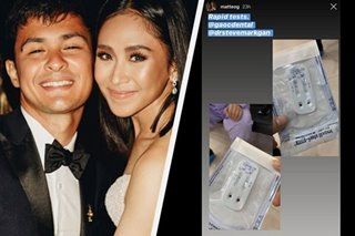 Sarah Geronimo, Matteo Guidicelli test negative for COVID-19