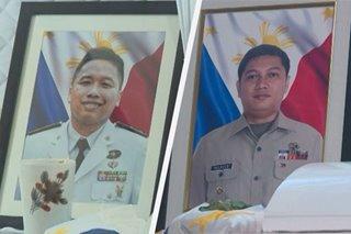 Mga labi ng 2 sundalong namatay sa Sulu, naiuwi na