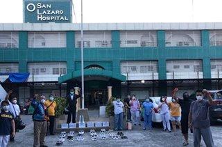 LOOK: San Lazaro Hospital nurses hold silent protest, call for improved treatment