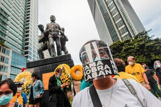 LOOK: Ninoy Aquino Day commemorated with motorcade, protest
