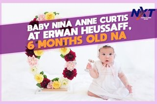 Baby nina Anne Curtis at Erwan Heussaff, 6 months old na