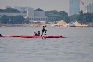 Enjoying Manila Bay's water