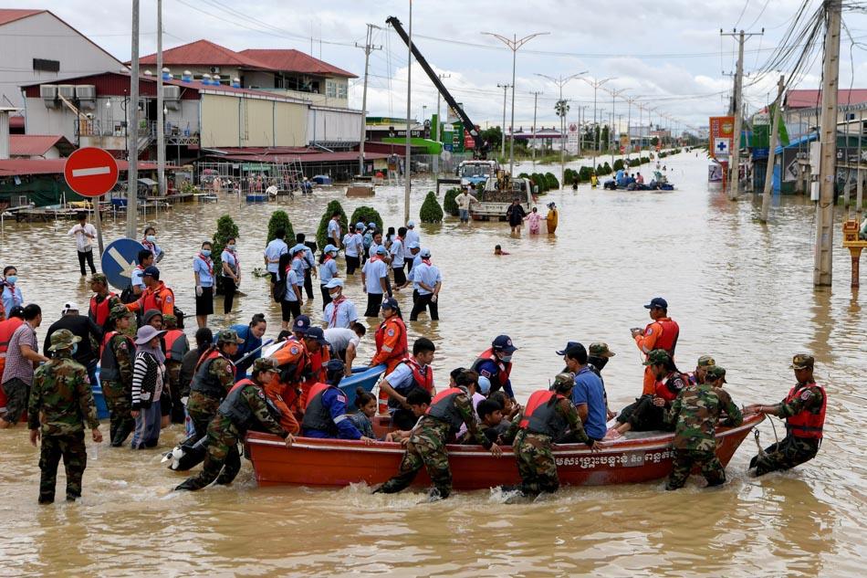 Massive flooding in Cambodia