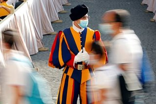 4 of Pope's Swiss Guards test positive for COVID-19