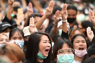 The story behind Thailand protesters' 'Hunger Games' salute