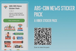 Sticker pack ng ABS-CBN News available na sa Viber chat