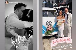 Dionne Monsanto marries fiancé in Switzerland
