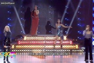 WATCH: Angeline, Elha, Janine, Jona belt out Kelly Clarkson medley on ASAP stage
