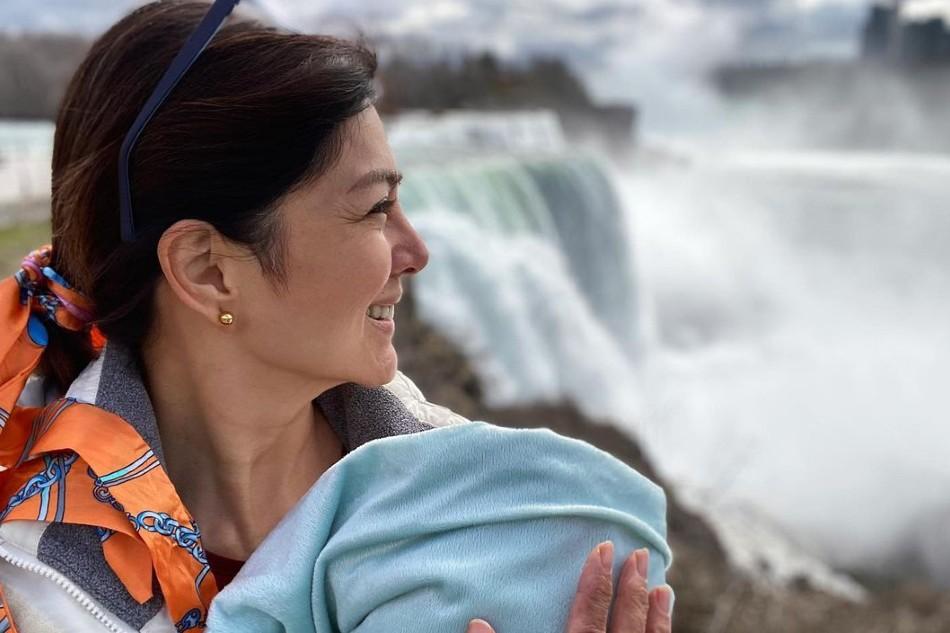 Alice Dixson nakabalik na sa Pilipinas kasama ang kaniyang baby 1