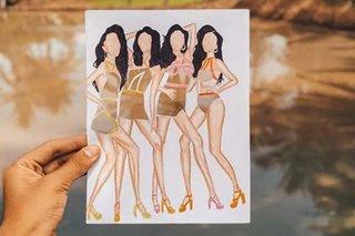 Cutout art na hango sa photoshoot ng Pinoy beauty queens, patok sa social media
