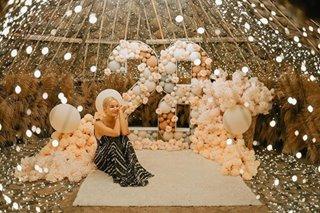 Sarah Lahbati celebrates birthday at Tanay campsite