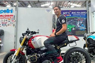 Riding motorbike chance for baller LA Tenorio to experience scenery change