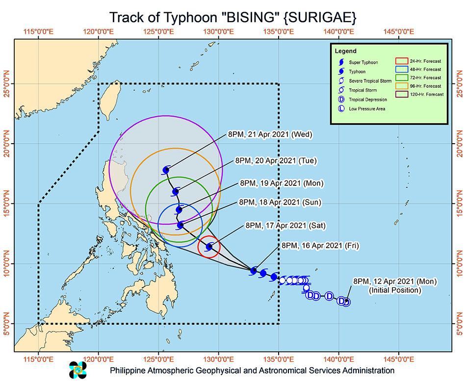 Typhoon Bising rapidly intensifies, may reach peak strength Sunday 2