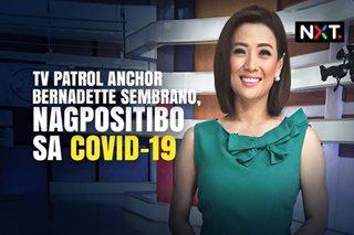TV Patrol anchor Bernadette Sembrano, nagpositibo sa COVID-19