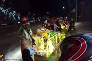 'Night Charity Parade' isinagawa ng grupo ng fire volunteers sa Quezon City