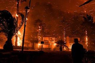 Firefighters battle forest blaze near Athens