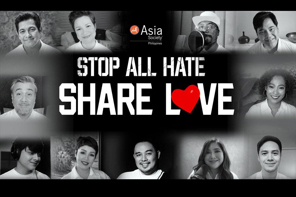 WATCH: Lea Salonga, Daniel Padilla, other Filipino stars join 'Stop All Hate' campaign 1