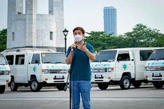 Arjo Atayde donates service vehicles to Quezon City
