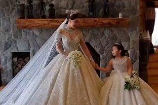 WATCH: Ara Mina is a stunning bride in queen-inspired gown on wedding day