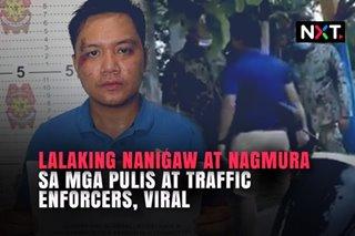 Lalaking nanigaw at nagmura sa mga pulis at traffic enforcers, viral