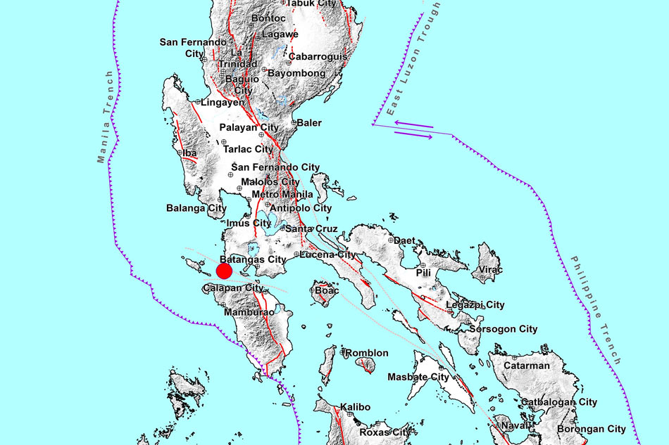 Magnitude 6.6 earthquake hits off Batangas province 1