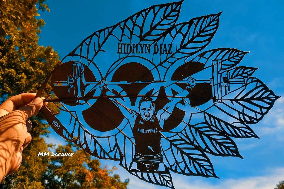 TINGNAN: Alay na artwork para sa pagsungkit ng ginto ni Hidilyn Diaz sa Olympics 2